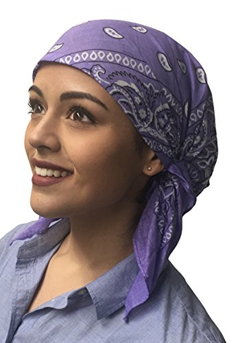 Classic Paisley Design Pre Tied Fitted Bandana Womens Head Wrap Scarf