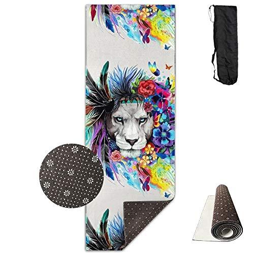 Decor Art Lion Deluxe,Yoga Mat Aerobic Exercise Pilates Anti-Slip Gymnastics Mats