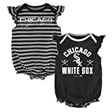 MLB Chicago White Sox Newborn Girls 2pk Creeper-0/3 Months, Black