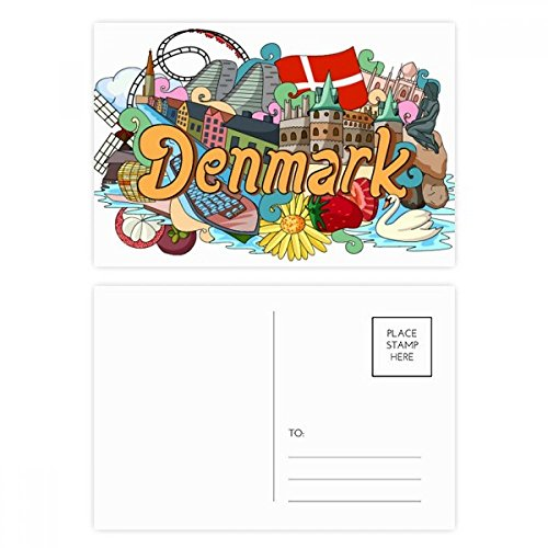 Denmark Postcard - Den Nye Havn Frederiksborg Castle Denmark Postcard Set Birthday Thanks Card Mailing Side 20pcs