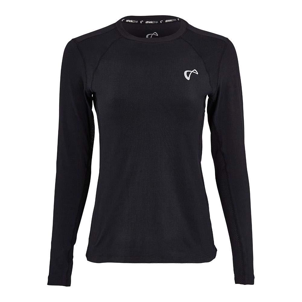 Athletic DNA-Women`s Advantage Long Sleeve Tennis Top Black-(781848203630)