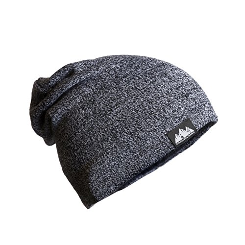 Macho Man Hat (CacheAlaska - Slouchy Beanie - Cuff Skull Cap - Acrylic knit hat for men or women – multicolor)