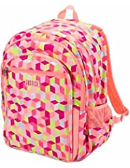 Justice Girls Coral Geometric Backpack