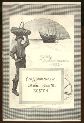 George A Plummer & Co Boston Spring Ladies' Wear Announcement 1892 trade card