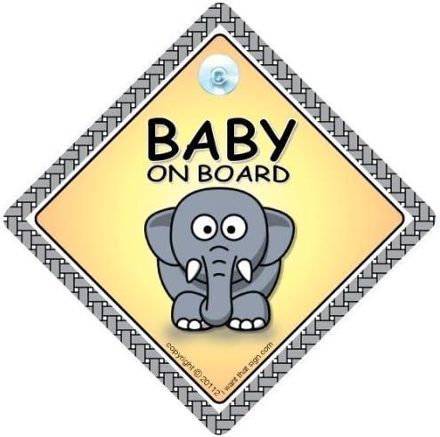 Baby on Board Mixte Baby on Board signe de b/éb/é /él/&e Autocollant Pare Choc B/éb/é/À Bord Signe De Voiture /él/éphant Autocollant Petit-enfant /À Bord B/éb/é/À Bord Du Signe