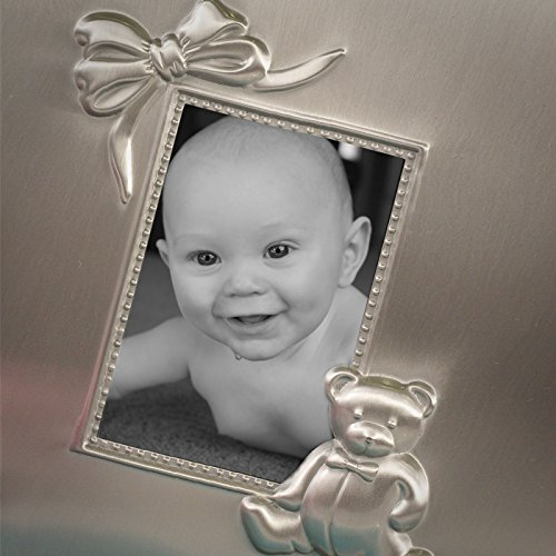 Personalized Pewter Finish Teddy Bear and Bow Album
