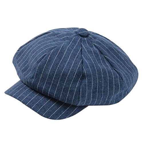 Denim Newsboy - ZLS Women's Retro Washed Denim Peaked Newsboy Gatsby Cap Cabbie Hats (3-bluetiao)