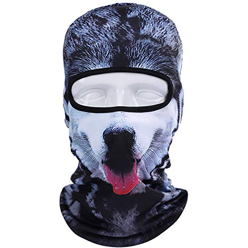 New 3D Animal Dog Cat Cap Halloween Hats Bicycle Skiing Sports Protection Helmet Full Face Mask Windproof