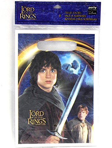 The Lord Of The Rings Treat Sacks Loot Bags Party Plastic (Lord Of The Rings Party)