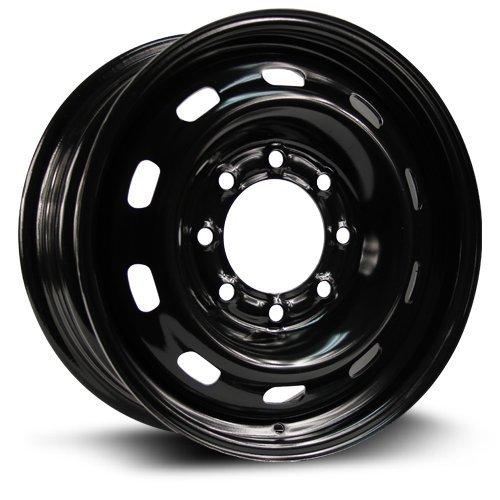 Aftermarket Steel Rim 17X7, 8X165.1, 121.1, +25, black finish A2185