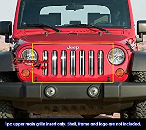 Fits 2007-2017 Jeep Wrangler Vertical Perimeter CNC Cut Grille nsert