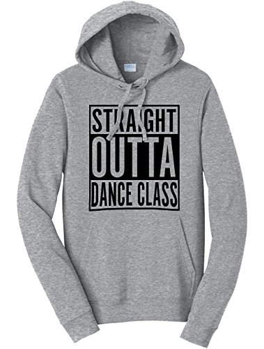 Class Hoodie (Tenacitee Unisex Straight Outta Dance Class Sweatshirt Hoodie, Small, Heather Grey)