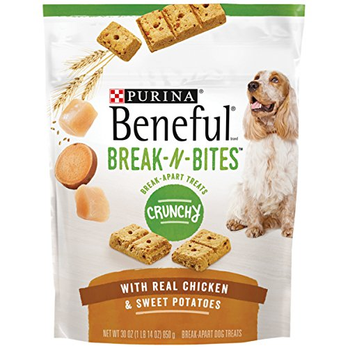 Purina Beneful Break-N-Bites Crunchy With Real Chicken & Sweet Potatoes Dog Treats - 30 Oz. Pouch