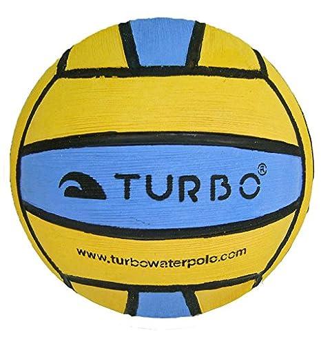 Turbo - Mini balón de waterpolo, color amarillo y azul: Amazon.es: Deportes y aire libre