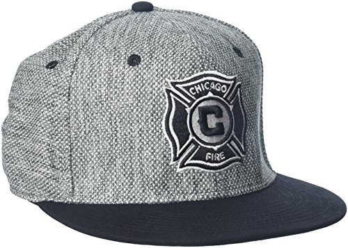 - adidas MLS Chicago Fire Men's Heathered Gray Fabric Flat Visor Flex Hat, Large/X-Large, Gray