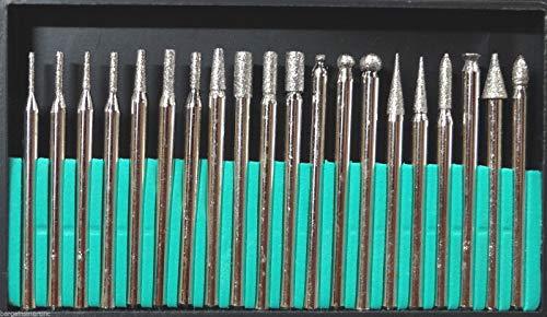 400 grit Diamond Burr Bit Set for Rotary Tool Glass Tile Ceramic ()