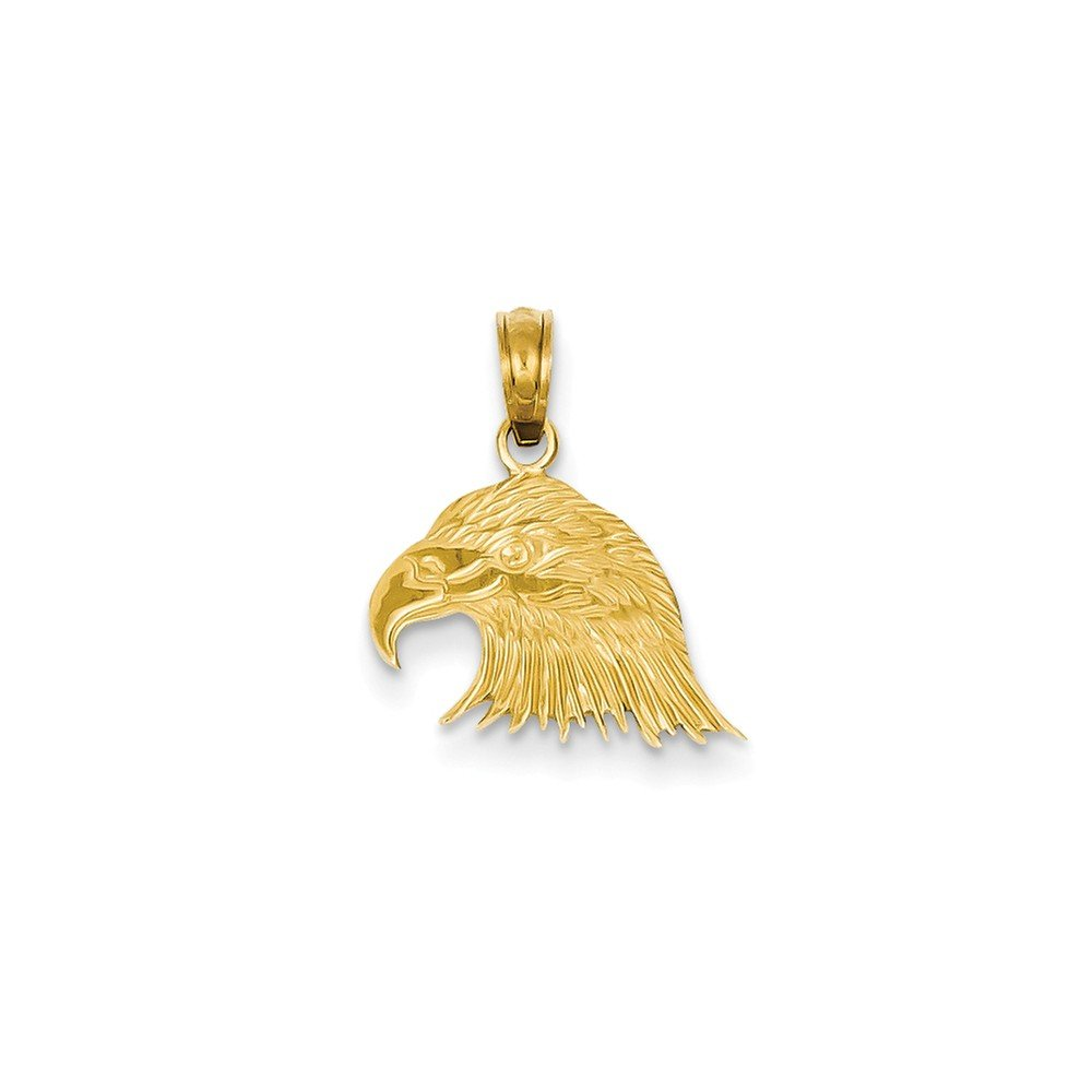 14k Eagle Head Pendant