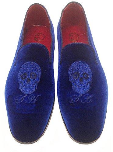 Garofalo Gianbattista mocassini slippers in velluto con ricamo personalizzato