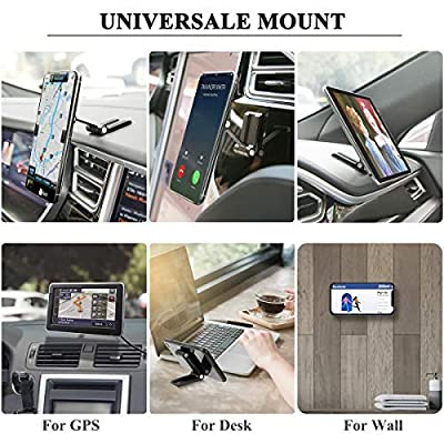 B-Land Magnetic Car Phone Mount, Foldable Phone Holder for Car Dashboard, Universal Phone Mount Compatible with iPhone 11/11 Pro/Xs/XS Max / 8/7 / 6, Samsung Galaxy S9+, and Any Other Phones (Black)