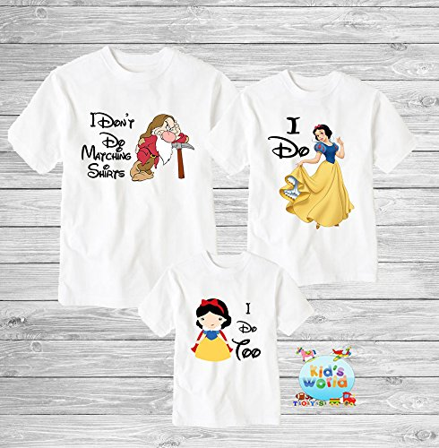 Funny disney couple shirts, I dont do matching shirts, I don't do matching shirts, snow white seven dwarfs couple shirts, Disney shirts D47 -