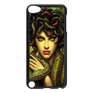 Diy Medusa Gorgons Phone Case for ipod touch 5 Black Shell Phone JFLIFE(TM) [Pattern-4] Kimberly Kurzendoerfer