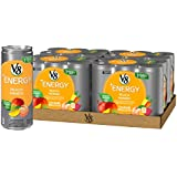 V8 +Energy, Juice Drink with Green Tea, Peach Mango, 8oz. Can (4 packs of 6, Total of 24)