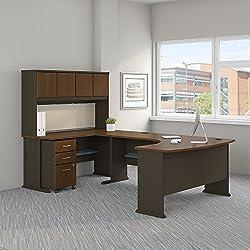Bush Business Furniture SRA068WASU Office Suite, Sienna Walnut and Bronze