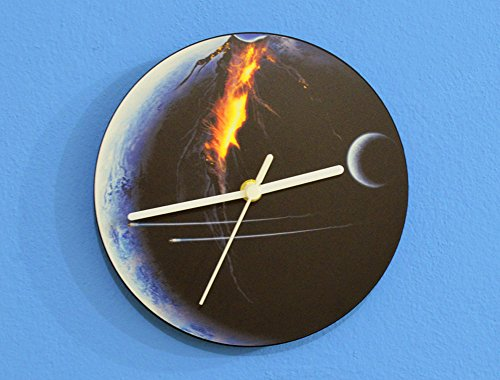 Futuristic Fantasy Planet - Universe Wars - Universe Stars Space Galaxy Solar Planet - Custom Name Wall Clock by inPhoenix