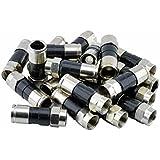 20x High Quality Fiches F à compression pour câble coaxial RG 6, FK-6–49