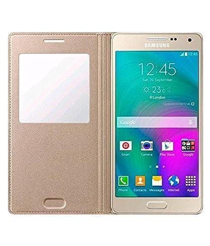 hot sale online e3dfd 5386d Original Window Flip Cover for Samsung Galaxy A5 2016: Amazon.in ...