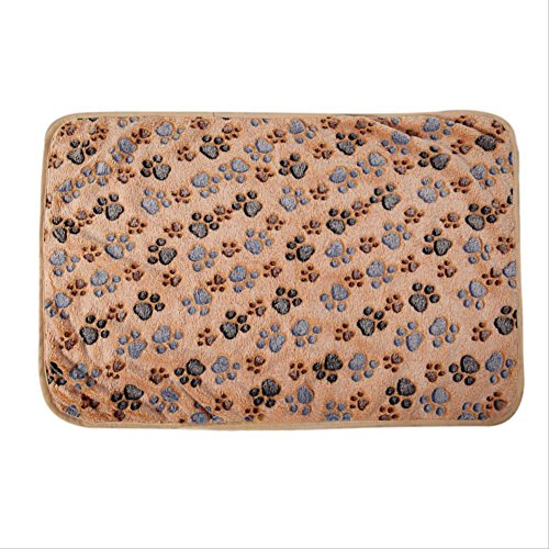 Topshop Warm Pet Mat Small Large Paw Print Cat Dog Puppy Fleece Soft Blanket Bed Cushion (M:3020.5