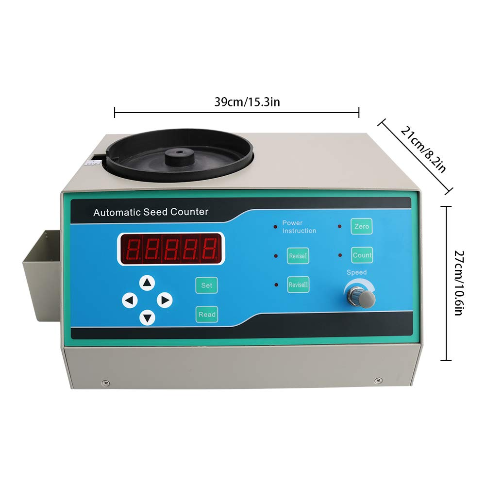 Automatic Seeds Counter Machine, HomEnjoy 110V Sly-C Seed Counter Machine with LED Display for Various Shapes Seeds as Millet, Rice, Wheat, Corn, Soybean, Sunflower Rapeseed, Flowers, Tobacco by HomEnjoy (Image #2)