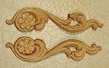 Goffrato legno applique onlay  ogni coppia