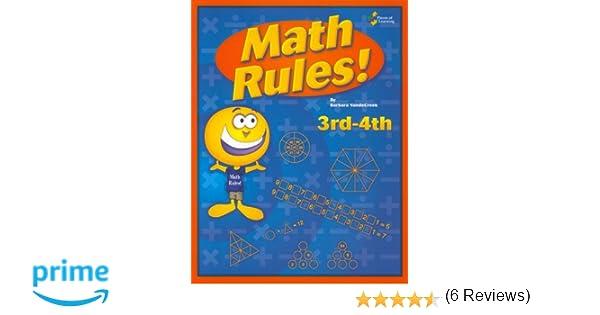 Amazon.com: Math rules!: 3rd-4th grade 25 week enrichment ...