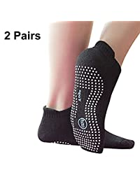 Non-Slip Yoga Socks with Grips for Men and Women, Anti Skid, Ideal for Yoga, Pilates, Ballet, Dance, Barefoot Workout