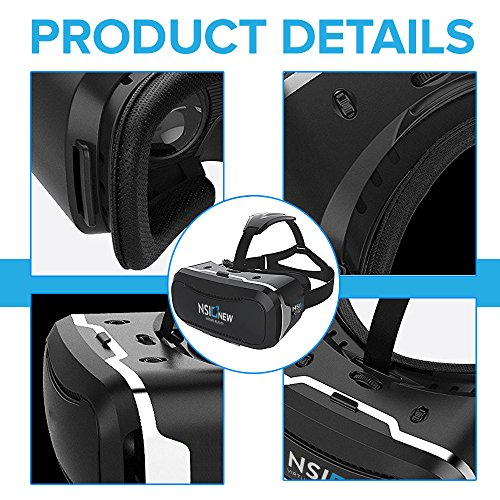 710d80aec4f2 Virtual Reality Headset by NSInew - Wider FOV VR Headset or 3D VR Glasses  for Games