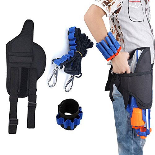 Airtana Kids Tactical Waist Bag + Darts Straps + Dart Wrister for Nerf Toys Guns N-Strike Elite Series