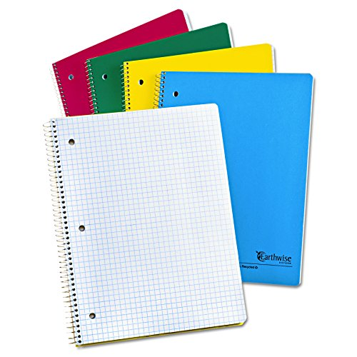 3 Subject Wirebound Notebook (Earthwise by Oxford 25451 Recycled 1-Subject Notebooks, 11 x 8 1/2, WE, 3 Hole, 80 SH)