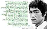 """Be like water, making its way'…Bruce Lee Motivational Quote Poster Print 12 x 18 inch (Rolled)"