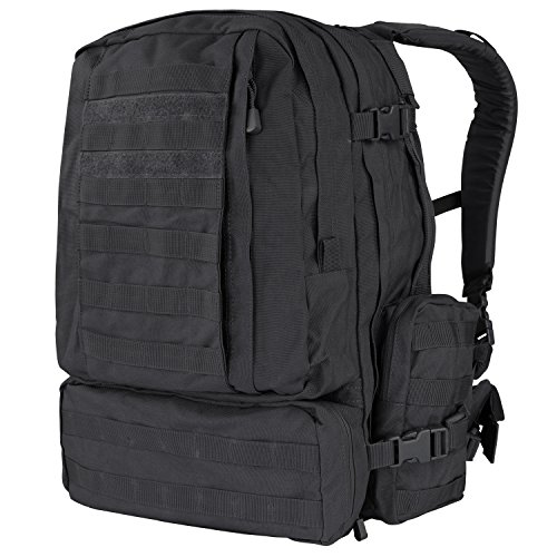 Condor 3 Day Assault Pack (Black, 3038-Cubic Inch) (Best 3 Day Pack)
