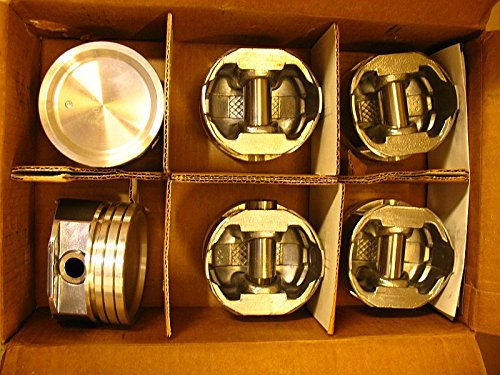 New Cast Engine ((6) Silv-O-Lite Pistons 3439HC-Std Pistons 96-03 Chevy Pontiac+ 3.4L Vin