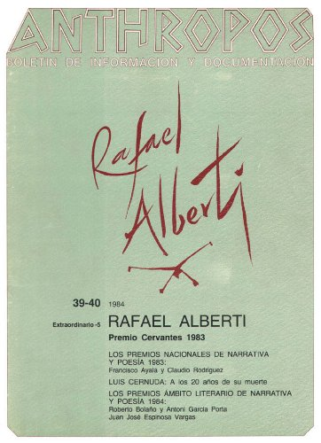 Rafael Alberti. Premio Cervantes 1983 (Spanish Edition)