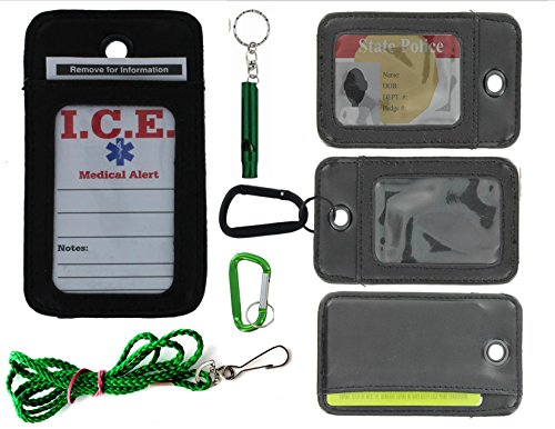 EDOG I.C.E. Active Senior Medical Alert Neck Wallet   Care Giver Locator   Wandering   Dementia   Alzheimers   Disabled   I.C.E. Cards   Leather   Emergency Contacts   Medical Conditions   Medication by EDOG