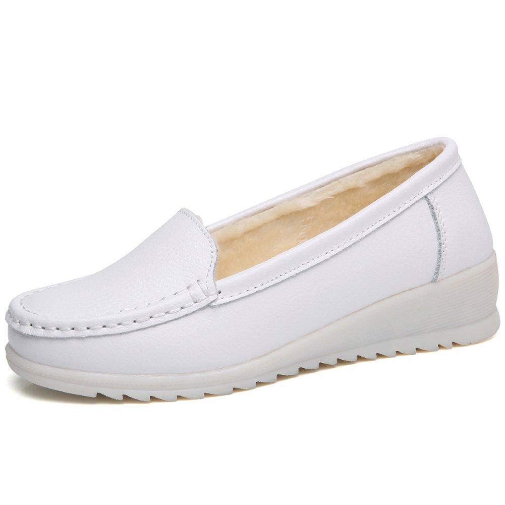 laforst Jess 3112 Womens Work Slip Resistant Flat Slip On Shoes B01DLCW0YW 9.5M|ブラック ブラック 9.5M