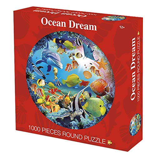 TANGON Square Puzzle Huaxia Shengling 1000 Capsules Puzzle Square Puzzle Toy Cartoon Toy Digital Geometry Clock Children's Educational Toy for Baby boy and Girl (A)