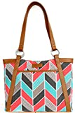 Kailo Chic Casual Laptop Tote Bags (Coral Turquoise Chevron)