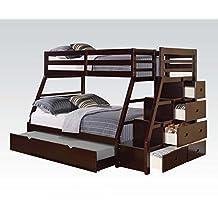 Acme 37015 Espresso Finish Loft Twin / Full Bunkbed / Ladder / Trund