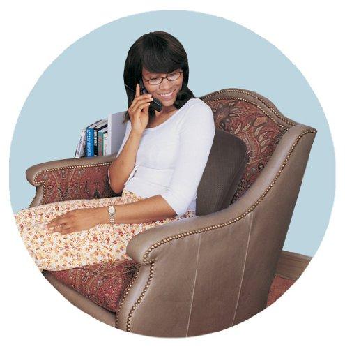 046854134935 - Comfort Products 60-2804MH05 Memory Foam Massage Lumbar Cushion, Black carousel main 4