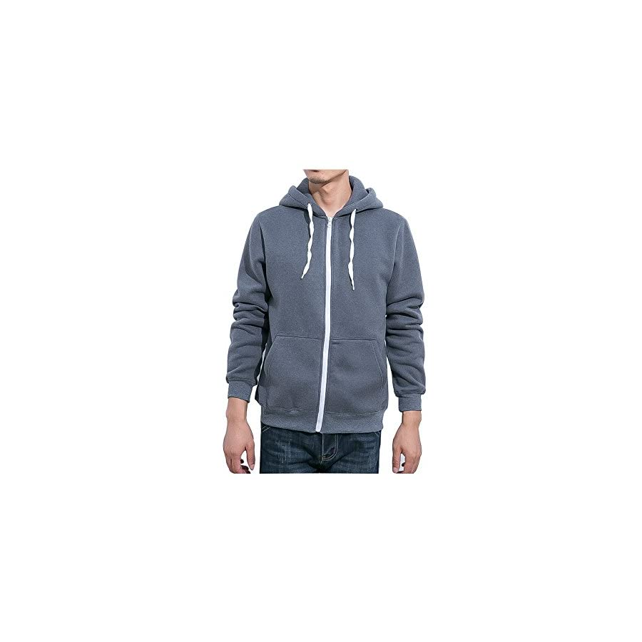 Aomo Love Men's Full Zip EcoSmart Fleece Hoodie A145