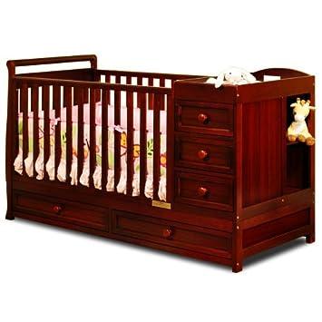 Amazoncom Catherine 3 In 1 Convertible Crib Cherry Crib And